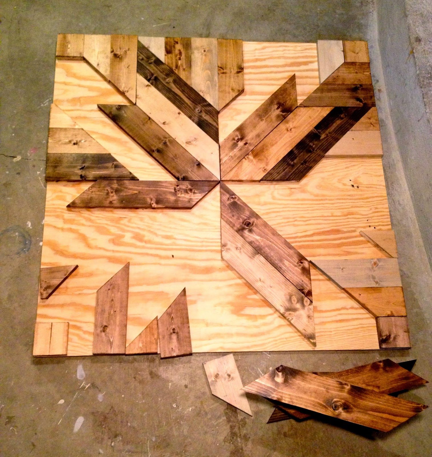 Build Diy Wood Planked Quilt Wall Art Make This Decor Using Pine Boards Glue And Various Stains It Makes A Great Statement Combines Two Of My