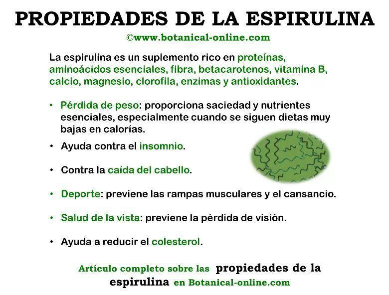 Propiedades Alga Espirulina Azteca Mexicana Health And Nutrition Spirulina Health