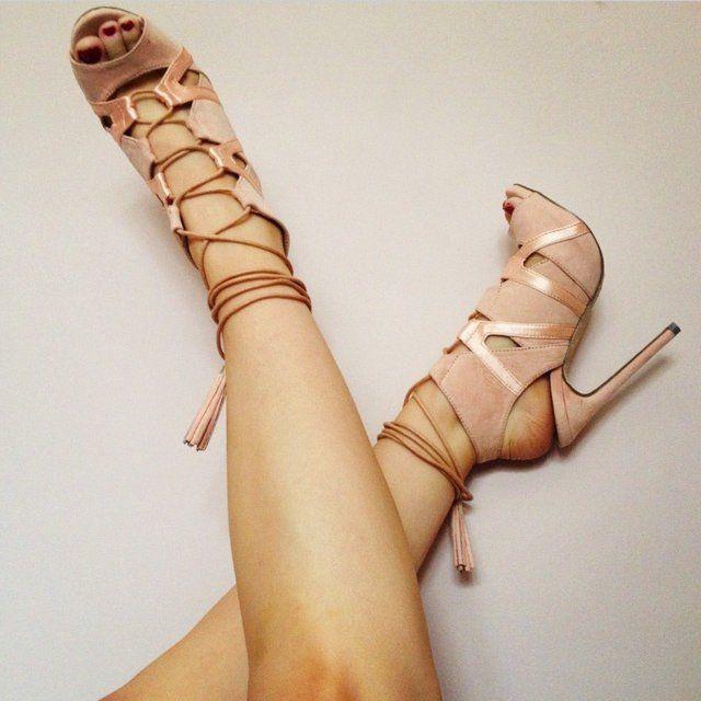 ee25edf96e7 Missguided fashion-Valentina heel in blushpink.