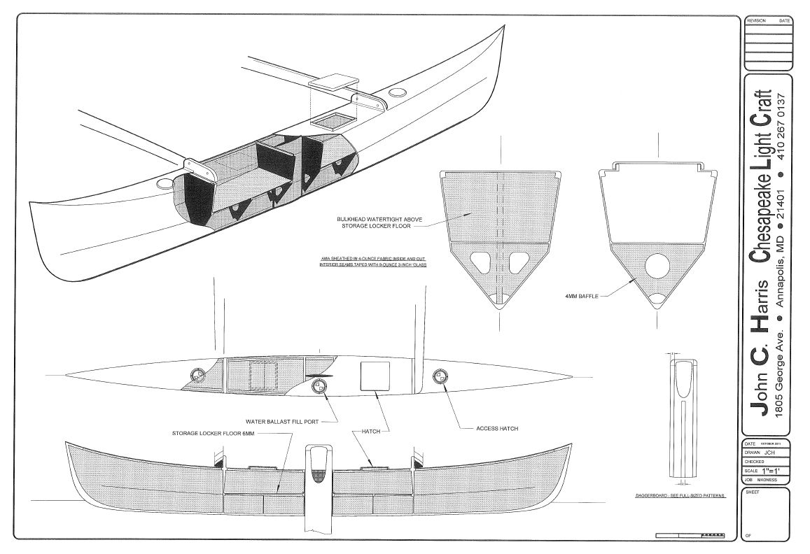 Proa Madness Study Plans This Is The Centreboard