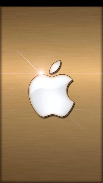 Golden Apple Wallpaper Background Ipod Backgrounds Wallpapers