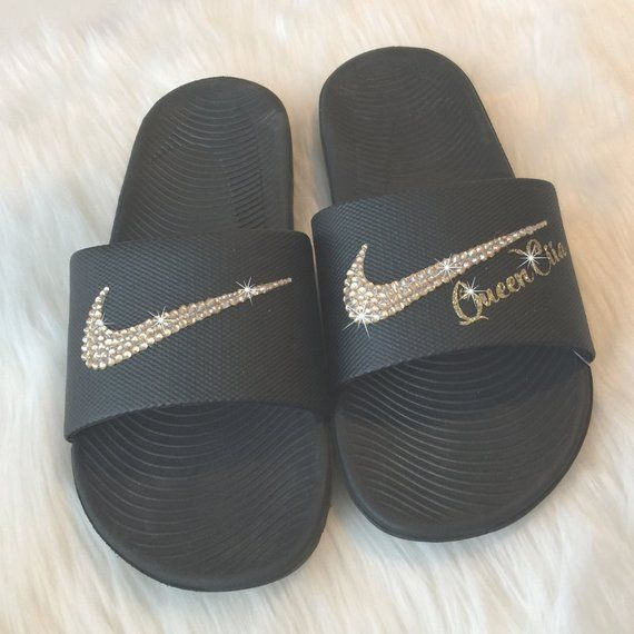 c19714d4b909 Nike Slides PERSONALIZED with YOUR Name Cheer Team or Team Name ...