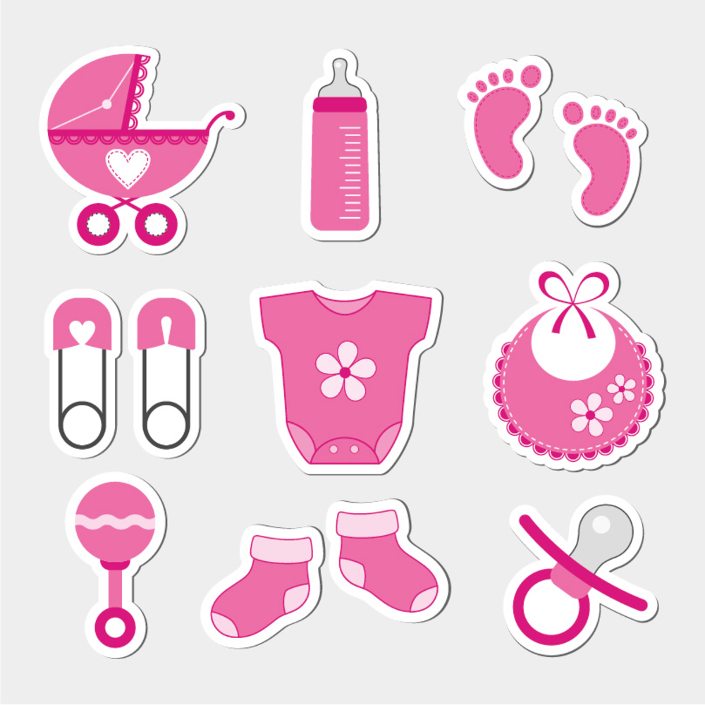 Baby Girl Shower Design Icons Baby Icon Online Baby Shower Invites Baby Scrapbook Album