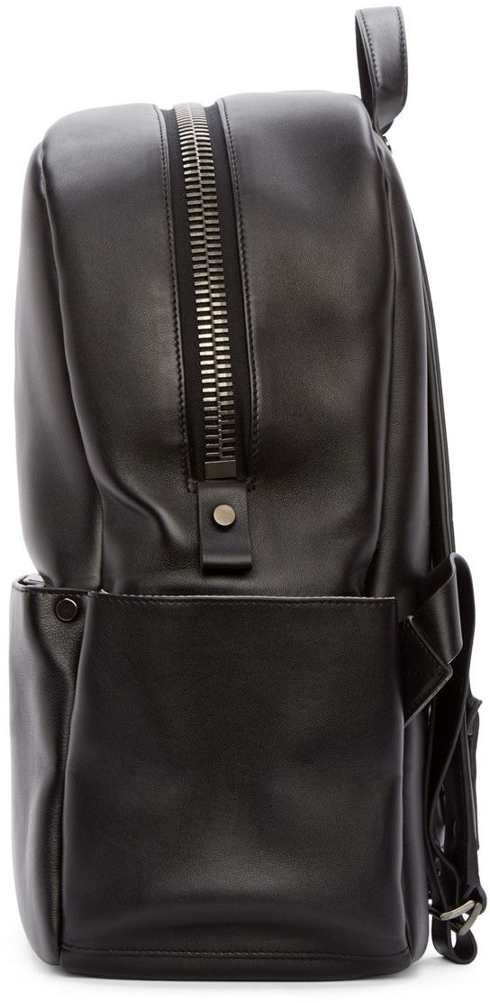 be24e963c41 Calvin Klein Collection Black Leather Utility Backpack | Men Style ...