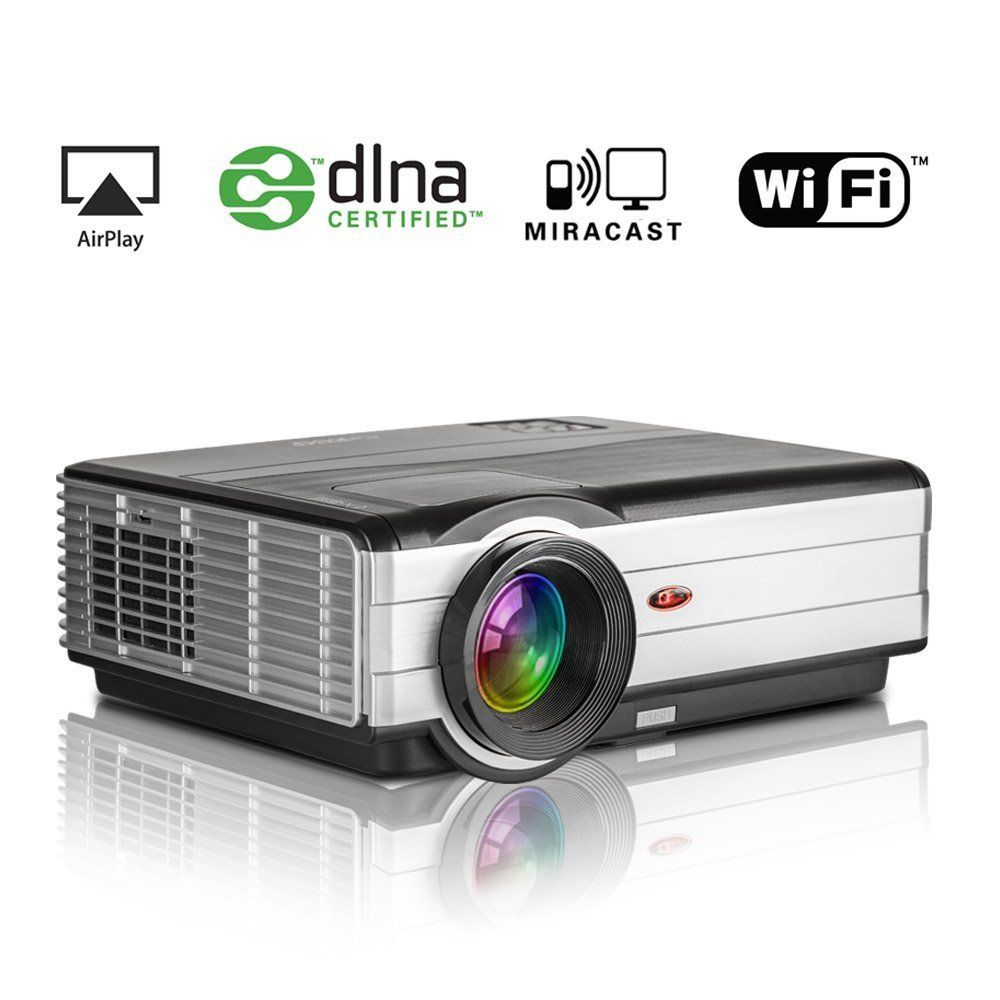EUG Wireless Home Theater Projector 3500 Lumens LED Entertainment ...
