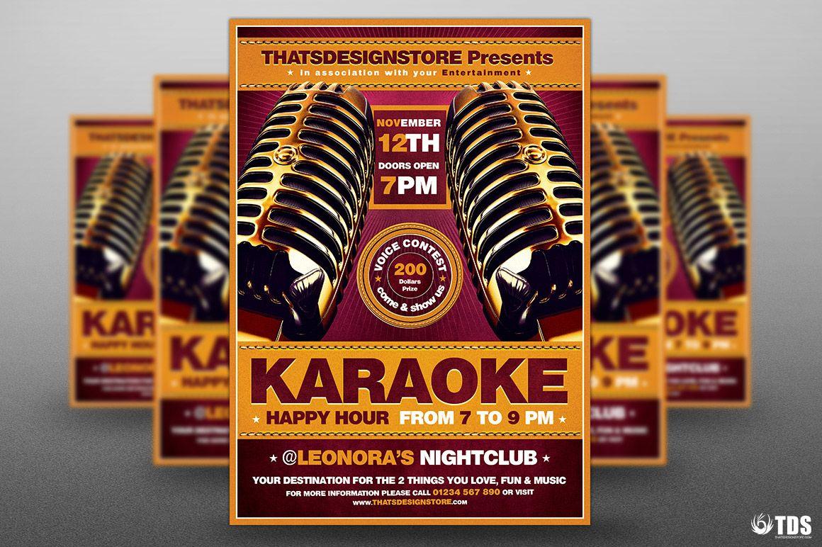 Karaoke Flyer Template V2 Flyer Template