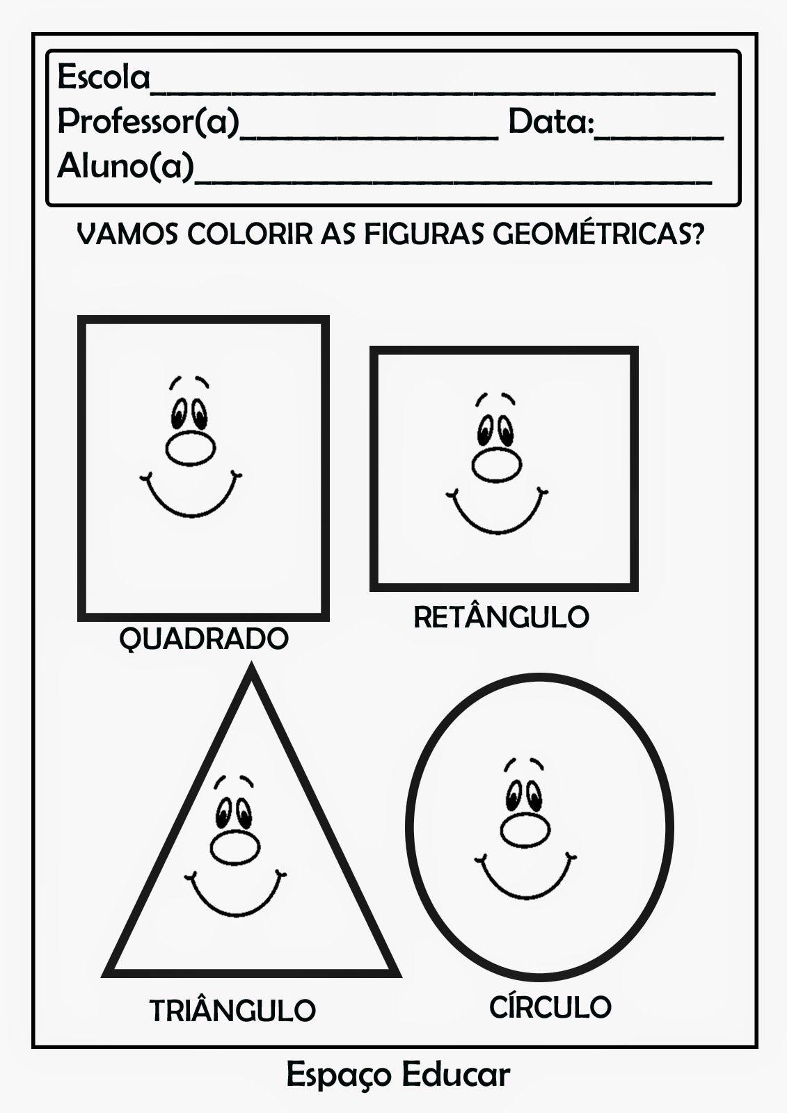 Espaco Educar Atividades Com Figuras Geometricas Para Imprimir