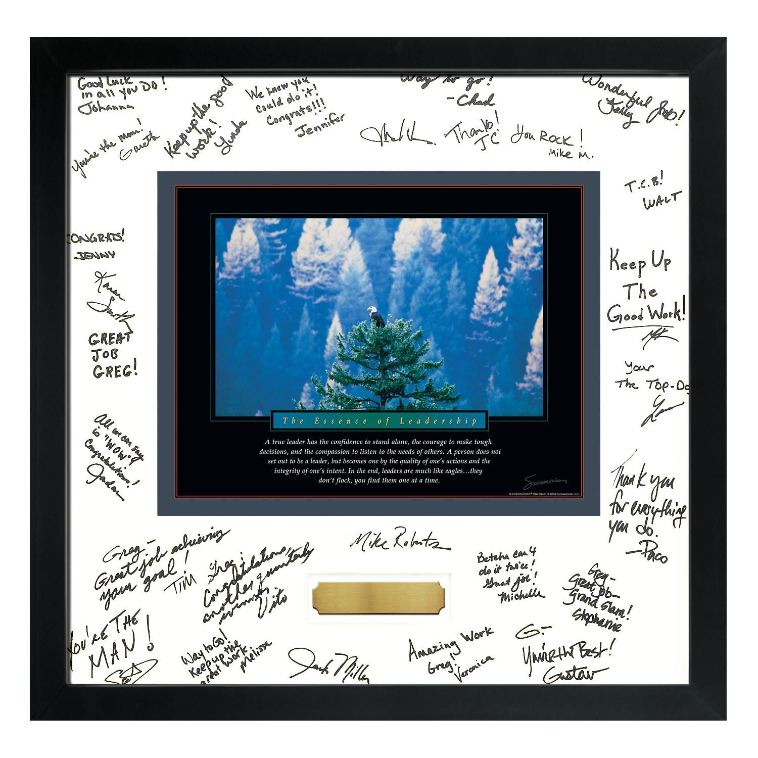 Boss S Day Gift Signature Frame With Motivational Poster