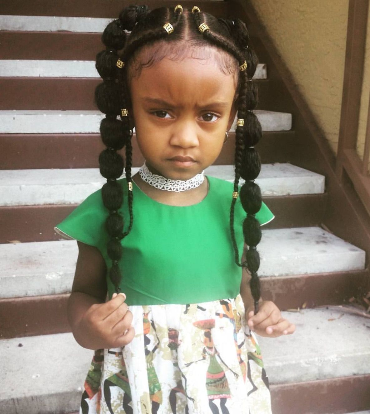 Super Cute African Styled Hair African Hairstyles Baby Girl Hairstyles African Braids Hairstyles Pictures