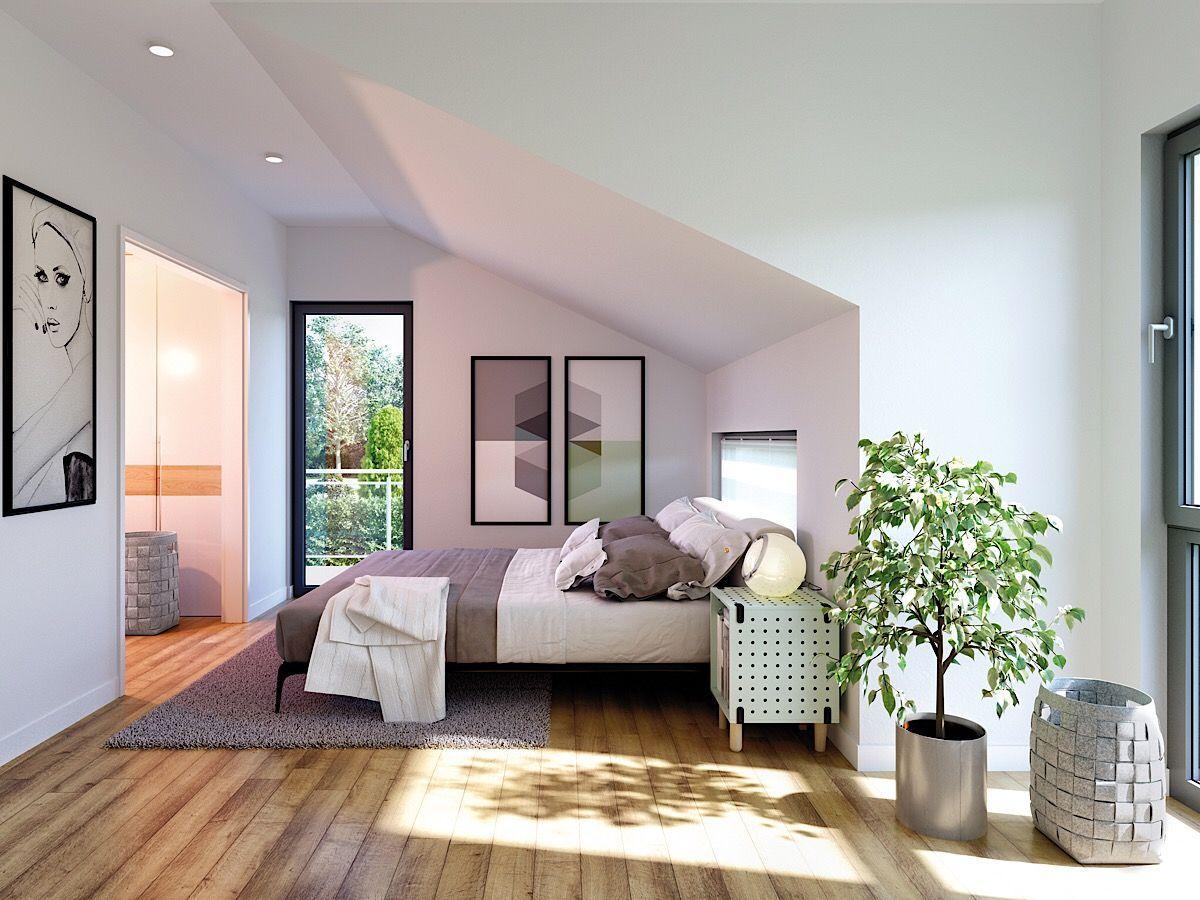 Modernes Schlafzimmer mit Dachschräge & Ankleide Ideen