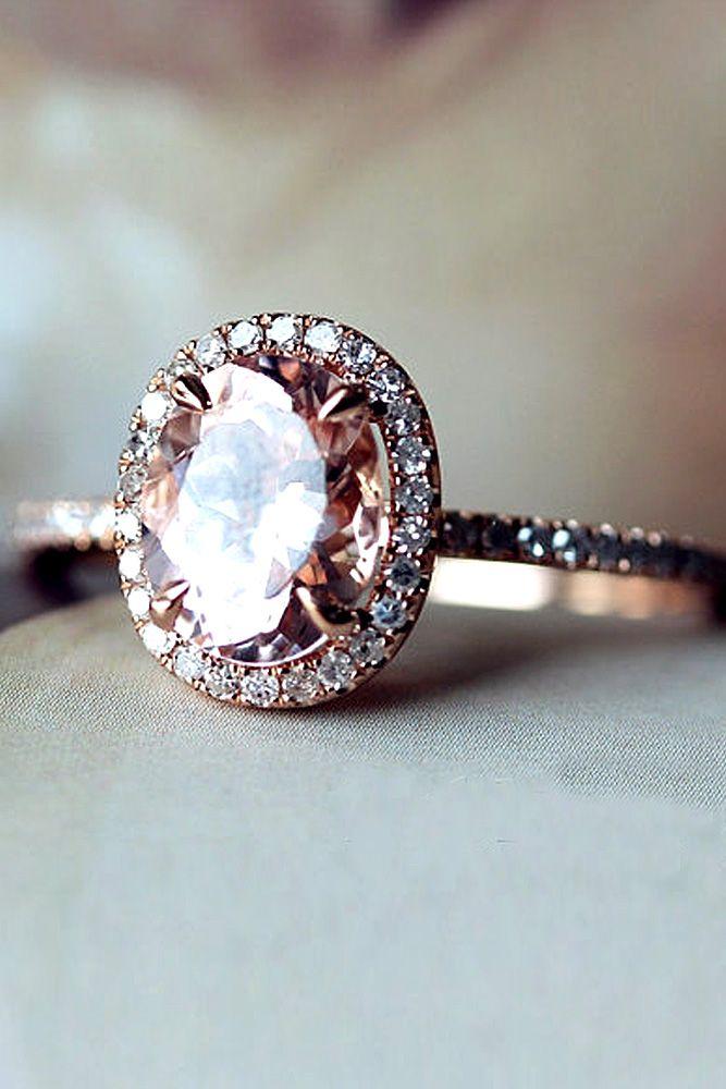 Responsible 10k Rose Gold Morganite Diamonds Women Milgrain Gemstone Jewellery Wedding Ring Jewellery & Watches