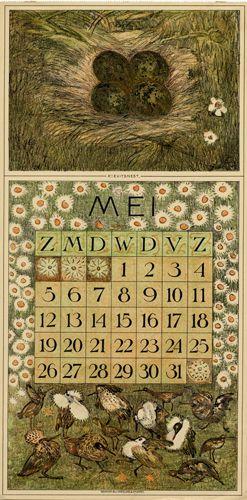 Theodoor van Hoytema, calendar 1912 may
