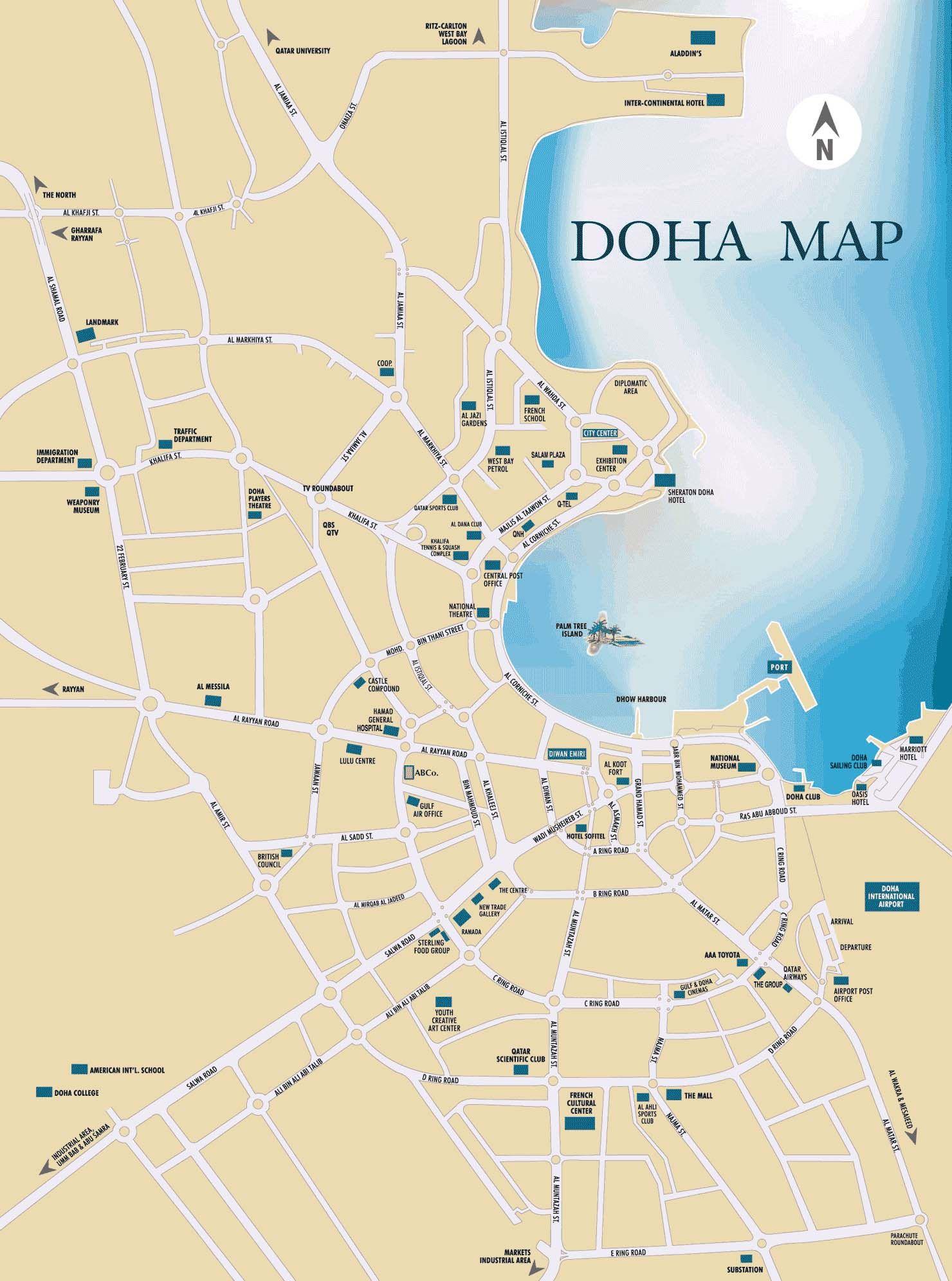 embassy of qatar map of doha this is qatar pinterest