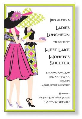 Ladies Luncheon Party Ideas Tea Party Invitations Lunch