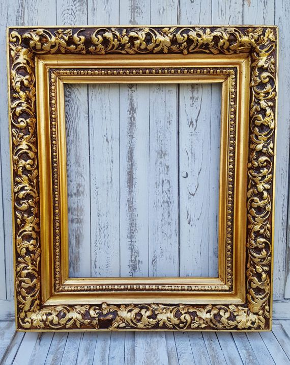 Colonial Style Frame Gold Leafcanvas Frame Photo Frame Oil Etsy Picture Frames Mirror Painting Wood Picture Frames