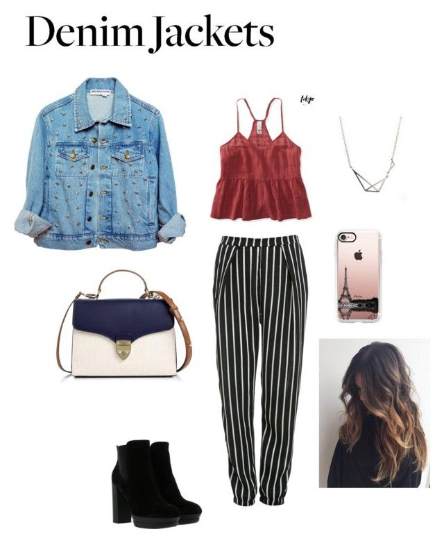 """Jean jacket"" by haley-oolun on Polyvore featuring mode, High Heels Suicide, Glamorous, Aéropostale, Hogan, Aspinal of London et Casetify"