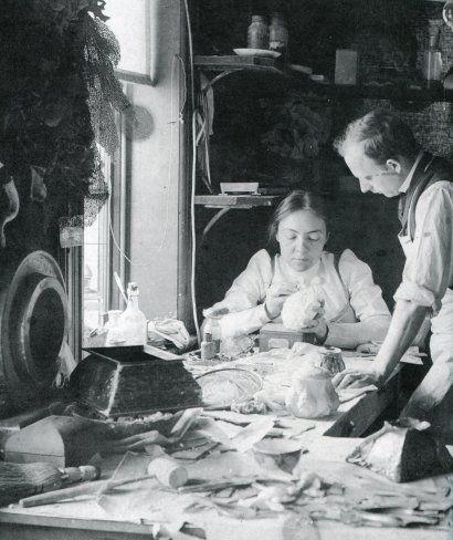 ee521eab0c6e Clara Driscoll in her workroom at Tiffany Studios with Joseph Briggs ...