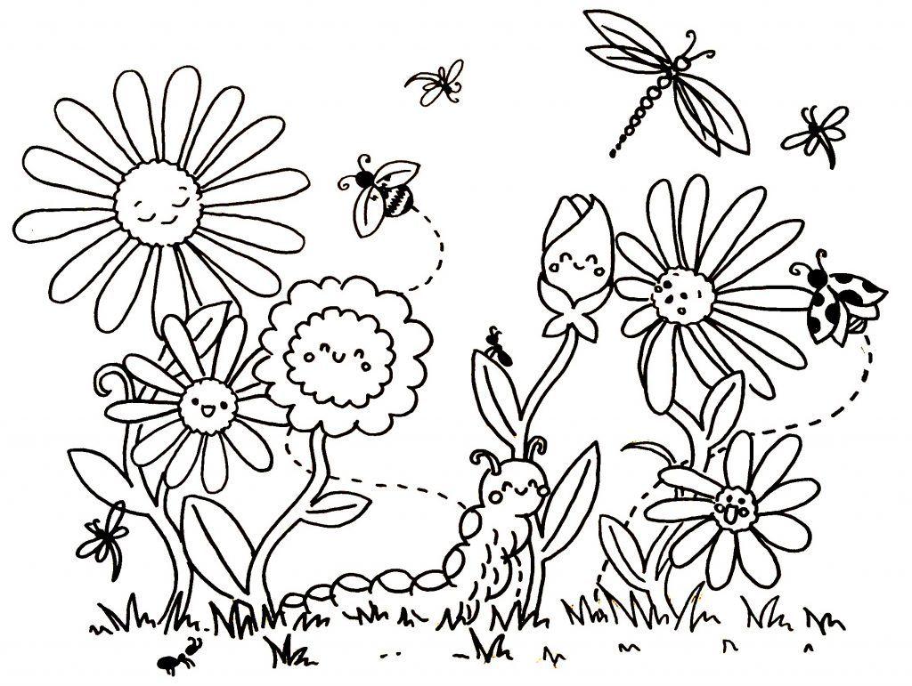 Ausmalbild Frühling / Spring Printable Freebie | Ausmalbilder ...
