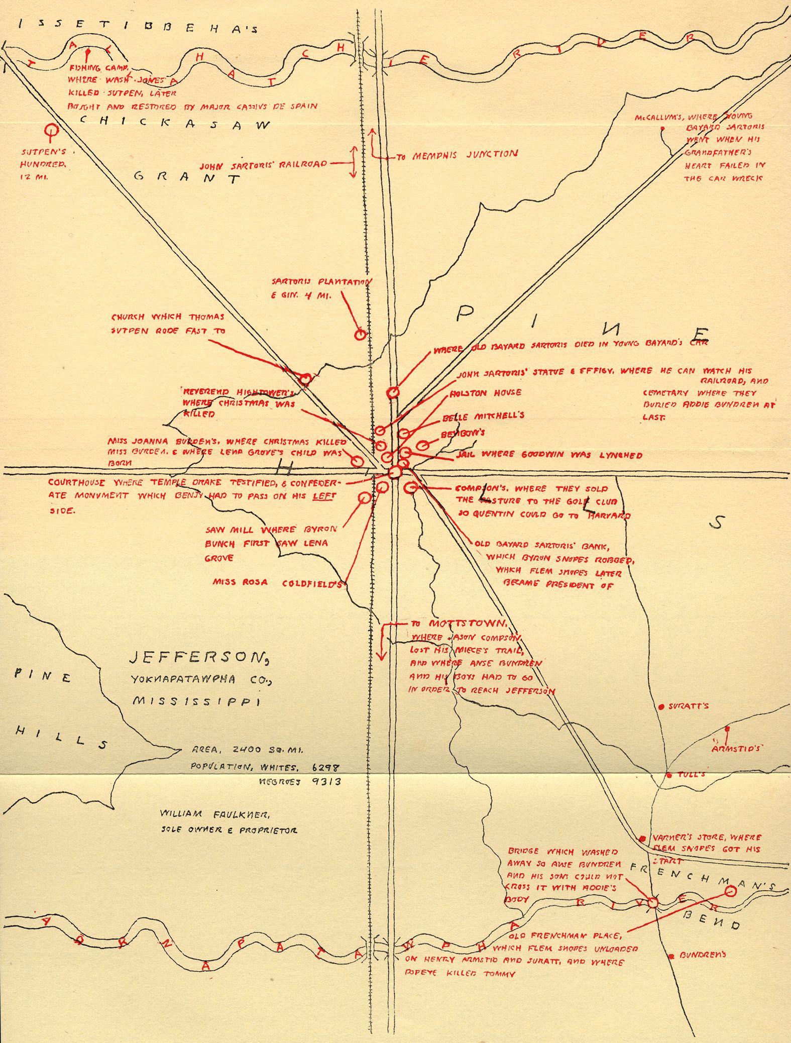 yoknapatawpha map google search