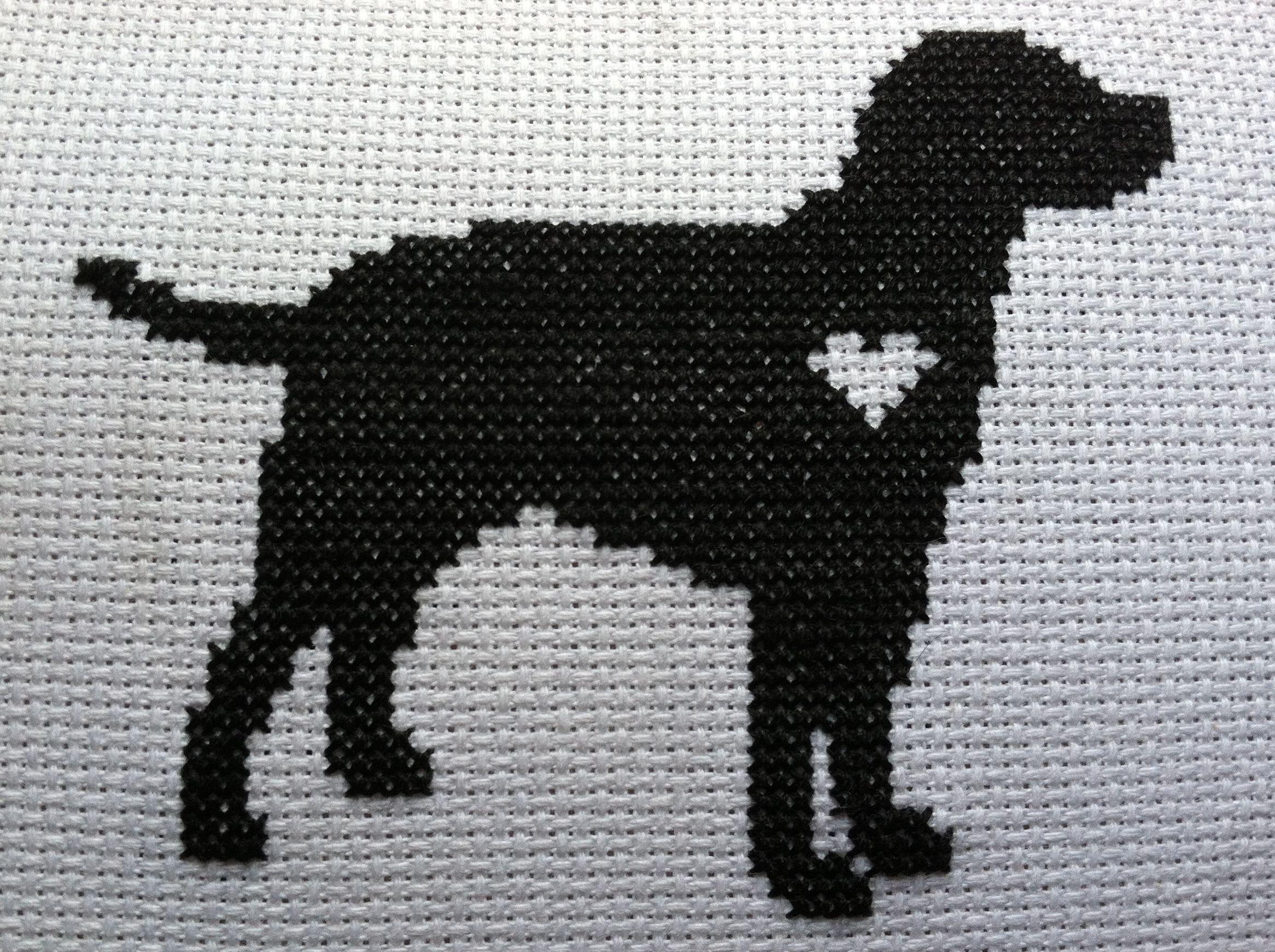 cross stitch labrador | We Love Sookie cross stitch ...