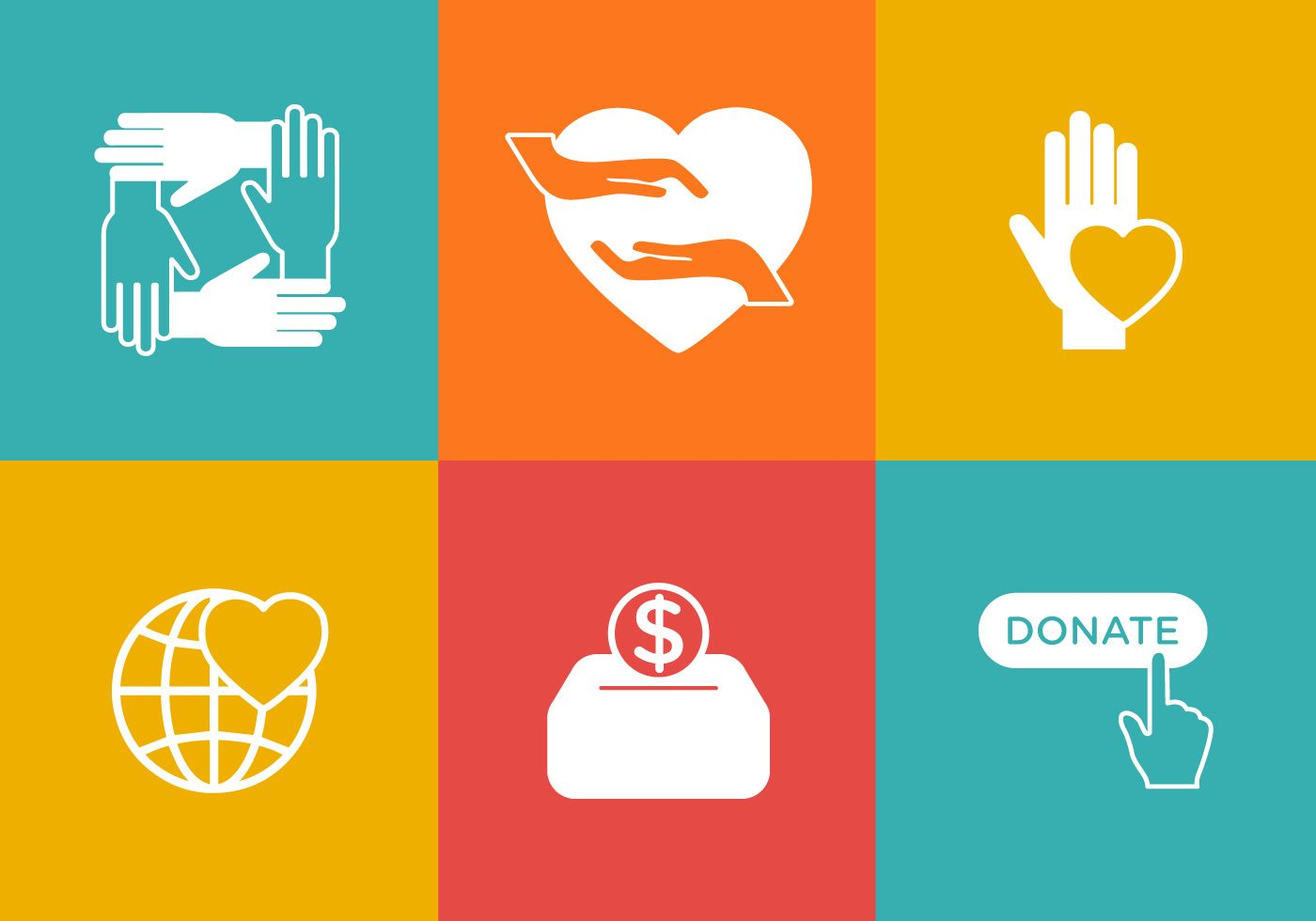 Great Donate Button Icons That You Can Use For Charity Or Giving Purposes Icon Set Donate Vector