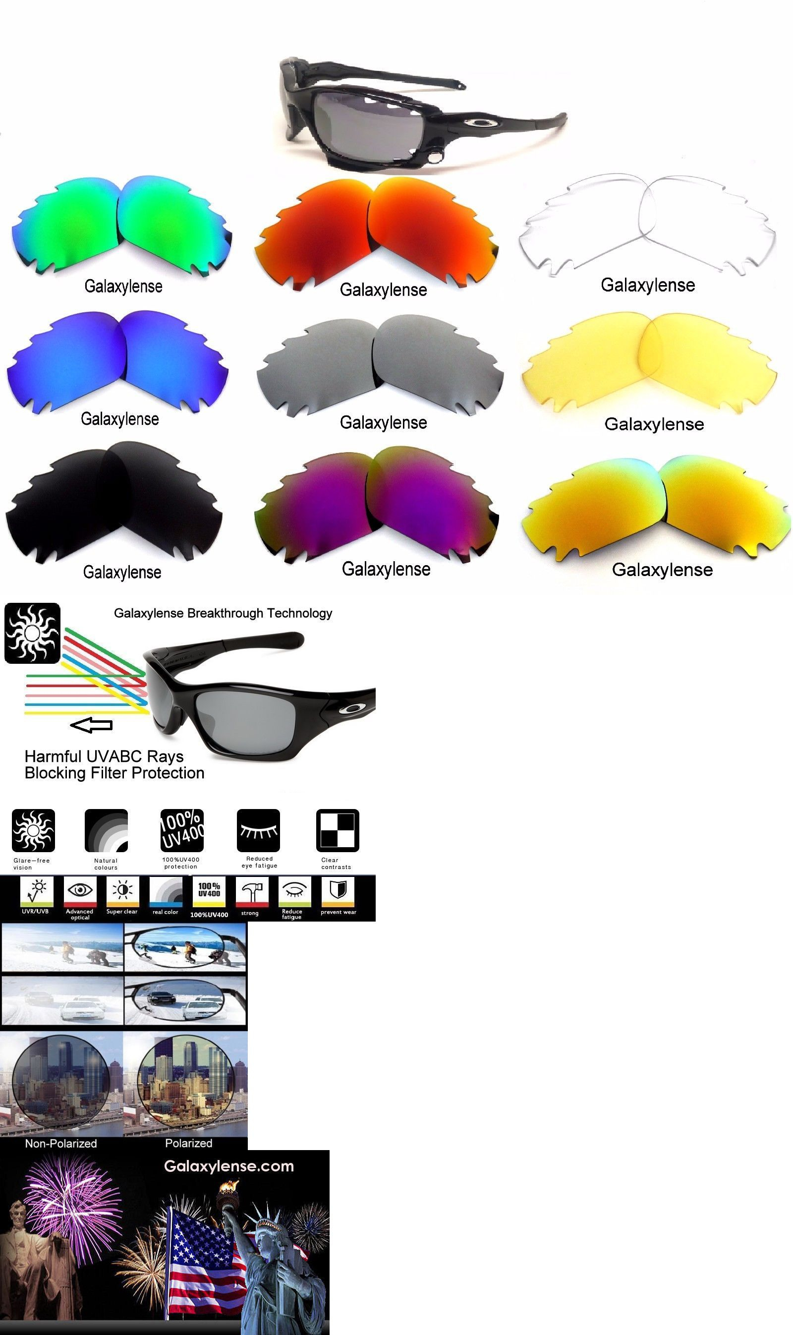 9f6a47185f3 Replacement Lenses and Parts 179195  Galaxy Replacement Lenses For Oakley  Jawbone Racing Jacket Multi-Color Polarized -  BUY IT NOW ONLY   18.92 on   eBay ...