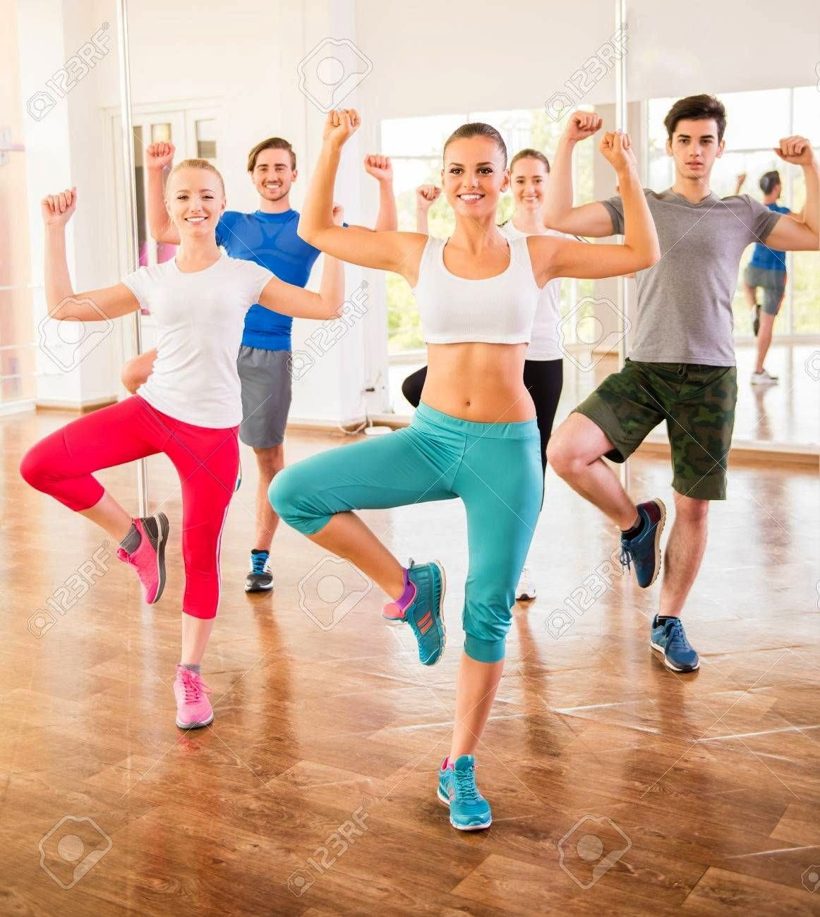 dance studio class Group of people are exercising in dance studio Fitness dance studio class Group of people are exercising in dance studio  Country Heat is so fun and si...