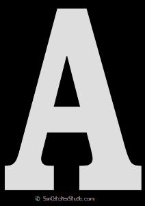 Tall Block Serif Printable Letter Stencils Numbers And Alphabet Large Letter Stencils Stencils Printables Letter Stencils Printables