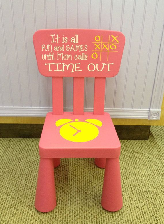 Time Out Chair Kids Furniture Pink Girls By TheCraftyGeeks, $39.00