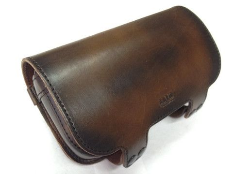 Anvil Motorcycle Tool Bag Available inBlack or Dirty Brown(Dirty Brown is an Original color available only from Anvil!) Heavy 10 ounce Hermann Oak leather con