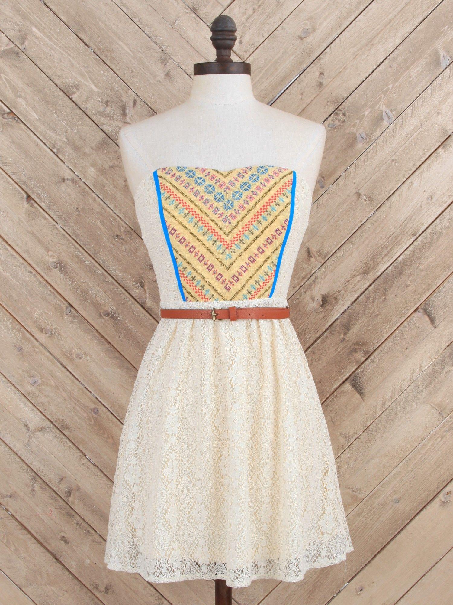 Girl Next Door Boho Dress - Strapless - Dresses - Apparel