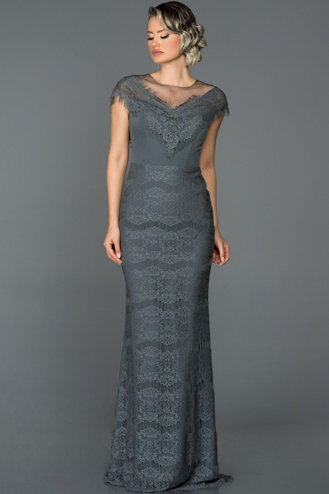 Tul Dantel Detayli Abiye Elbise Ab2629 Elbise Modelleri Elbise Elbise Dugun