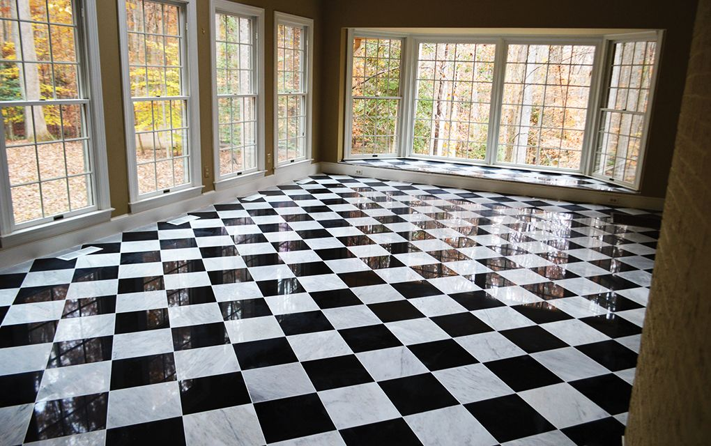 Black And White Marble Floor H Martinez Contracting Llc