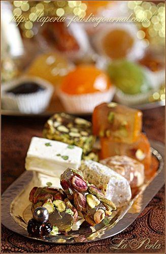 Iranian sweets,Gaz & Baslogh.