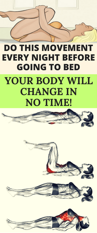 DO THIS SUPER EASY MOVEMENTS EVERY NIGHT BEFORE GOING TO BED, YOUR BODY WILL CHANGE IN NO TIME!  #li...
