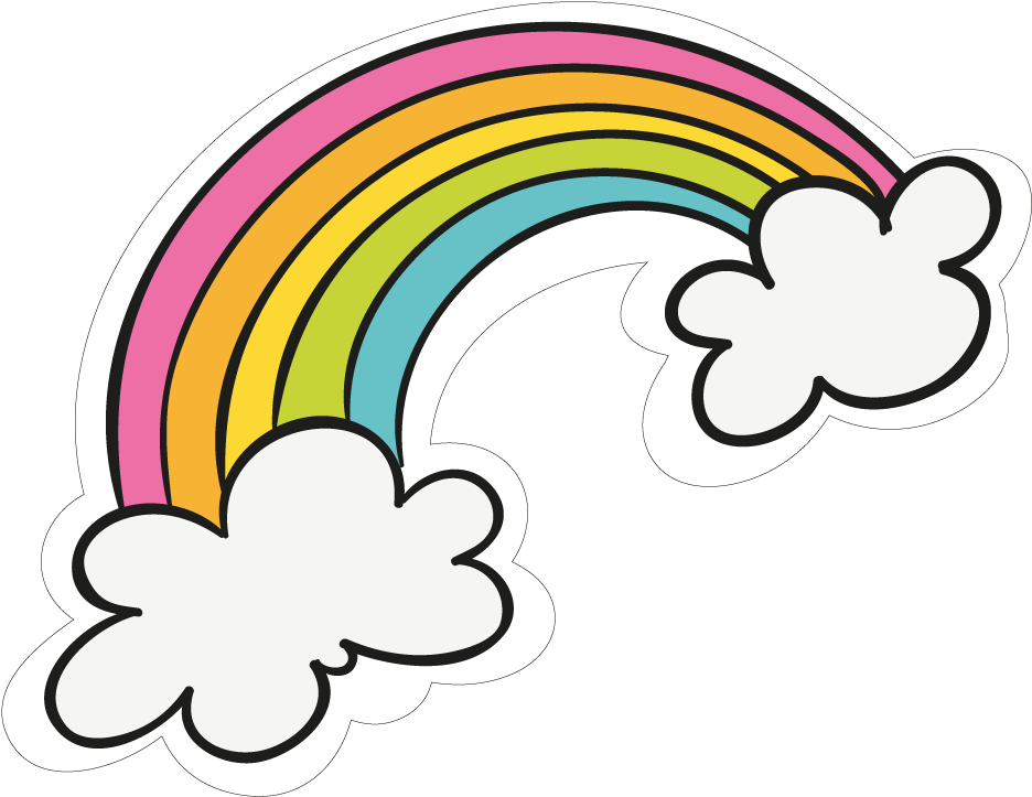 View Full Size Sticker Transparent Cute Png Download Rainbow Cartoon Png Clipart And Download Transparent C Rainbow Clipart Rainbow Cartoon Rainbow Stickers