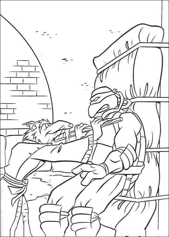 Teenage Mutant Ninja Turtles Tegninger til Farvelægning 10 | idéias ...