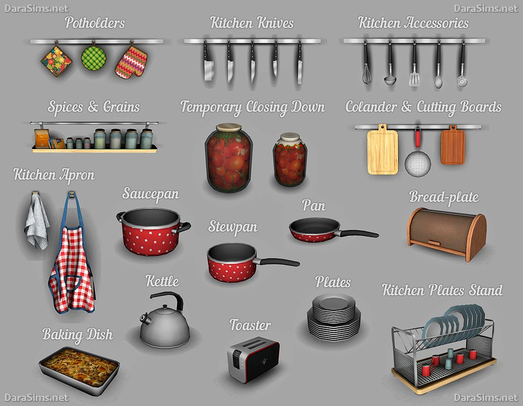 Lana Cc Finds Kitchen Decor Set The Sims 4 By Dara Sims The
