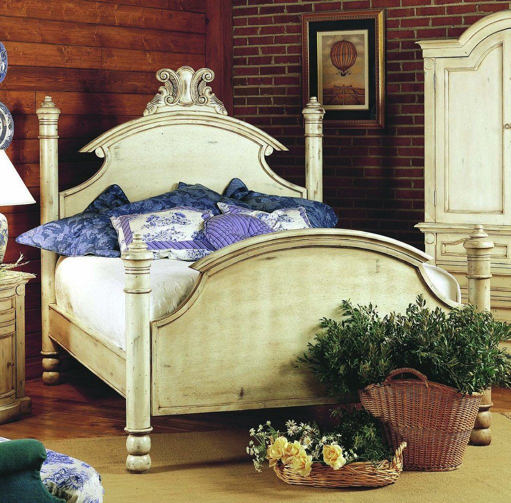 Old Biscayne Ansley Four Poster Wood Bed Custom