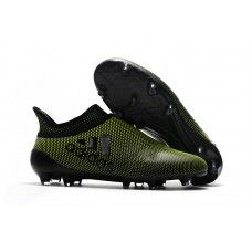check out af420 0832f 2017 Adidas X 17 Purechaos FG Chaussures de football Dark Vert Noir