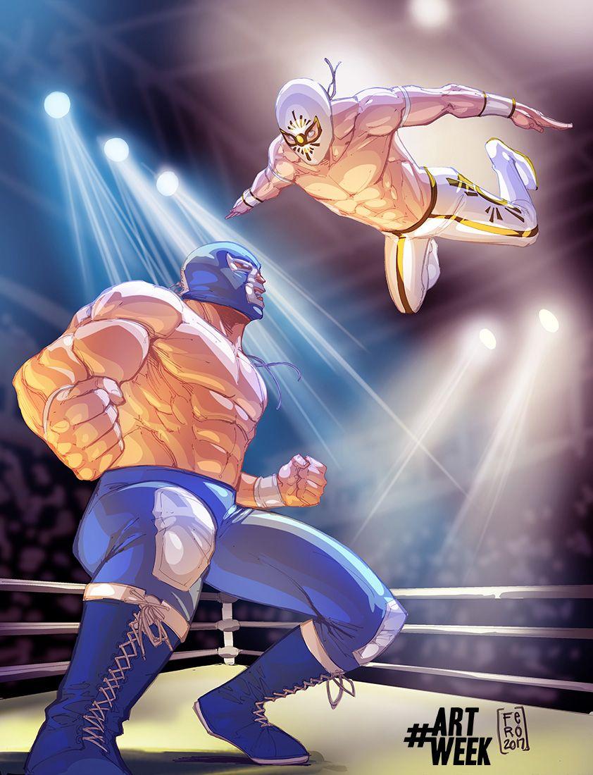 Lucha Libre BlueDemon vs Mistico by Fpeniche on DeviantArt ...
