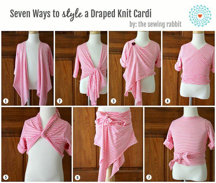 Draped Knit Kids Cardi DIY - Styled 7 Ways - The Sewing Rabbit