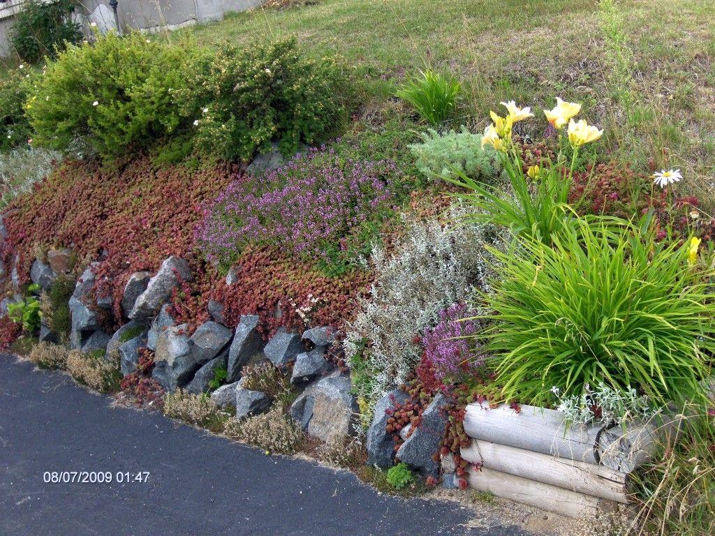 Elegant Retaining Wall  Rock Garden Beauty
