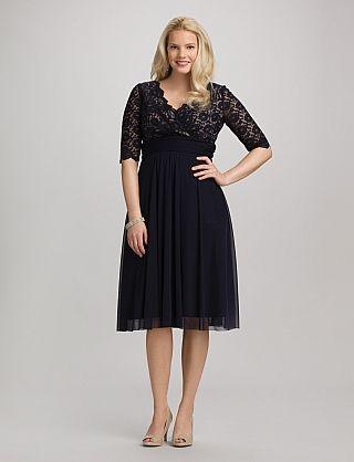 Plus Size Lace Top Surplice Dress Dressbarn Dress Me Up