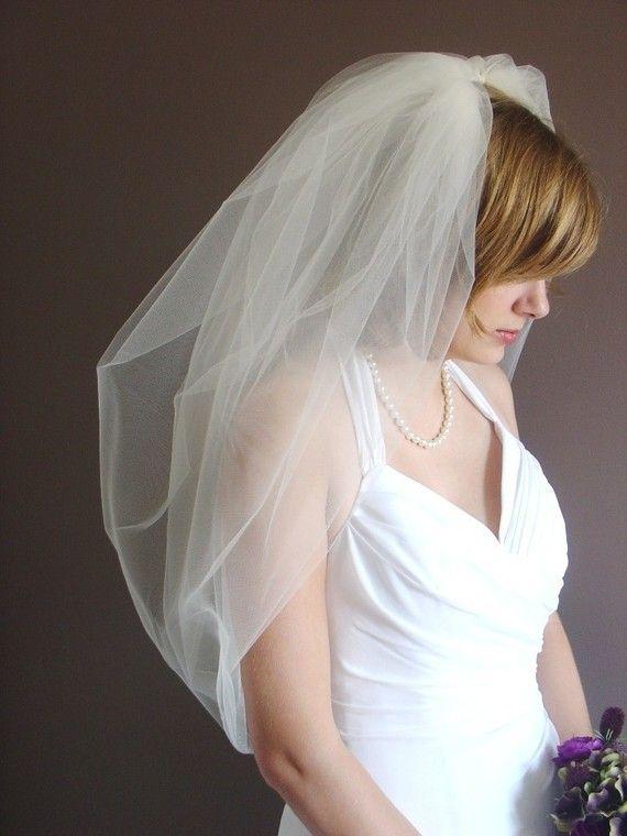 Wedding veil Bridal Veil Bubble Veil in by FascinatingCreations, $68.95