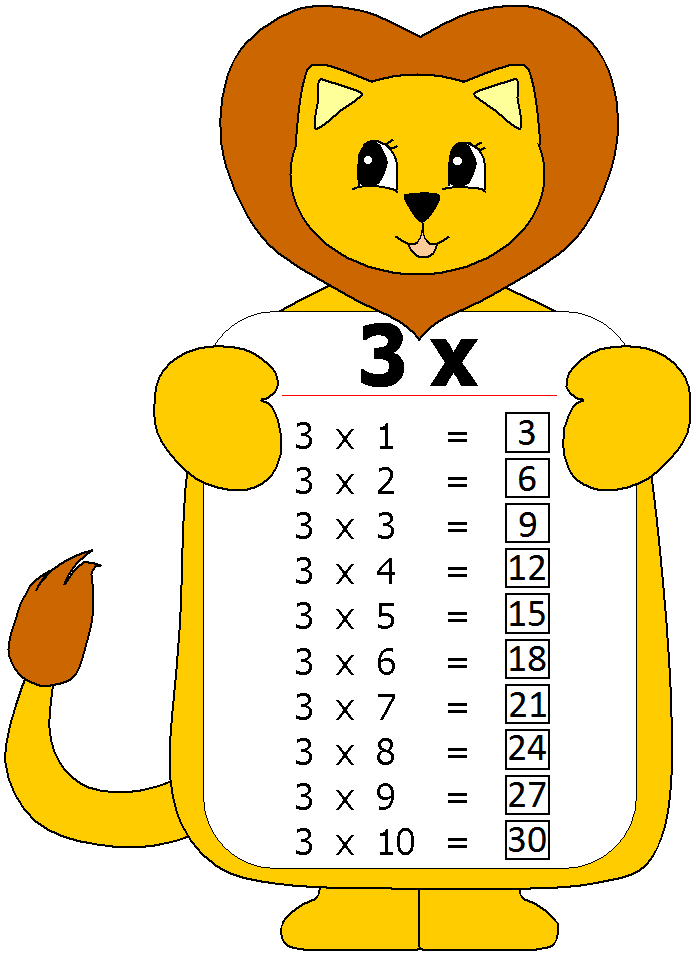 çarpım tablosu 3 ler   Matematik   Pinterest