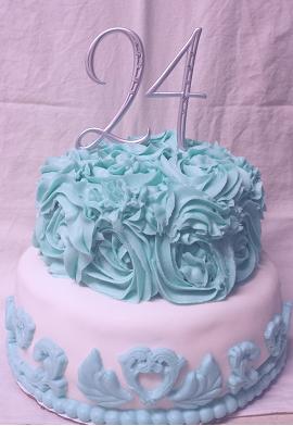 A Cake I Made For Co Worker Her Friends 24th Birthday