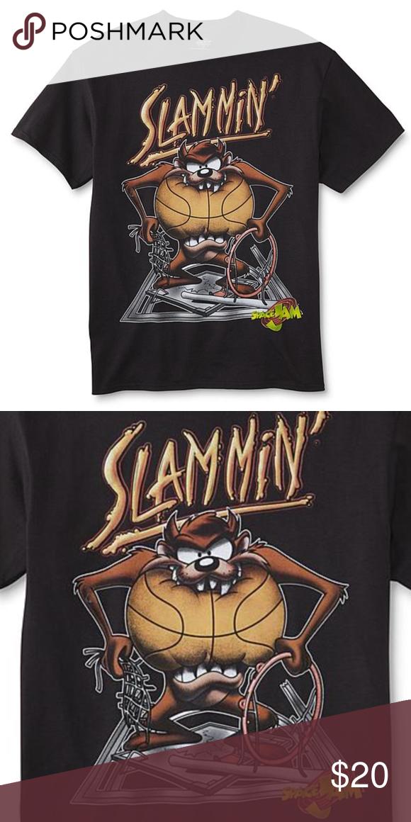 7dce76fdd Taz Slammin Graphic Tee Sz L Space Jam Taz Shirt Basketball Slam dunk Size  Large NWT OFFERS AND BUNDLES WELCOMED Shirts Tees - Short Sleeve