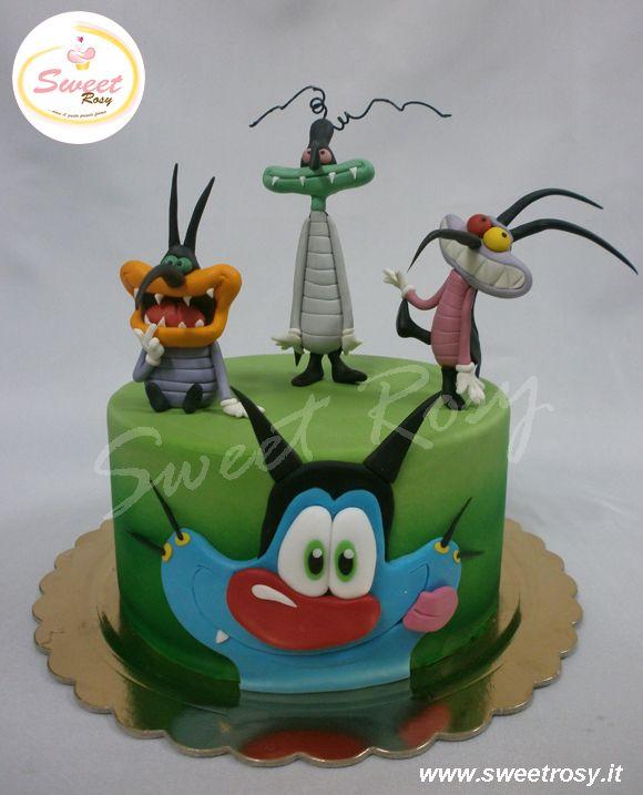 Torta Compleanno Oggy E I Maledetti Scarafaggi.Sweet Rosy Boy Birthday Cake Cartoon Cake Birthday Cake Kids