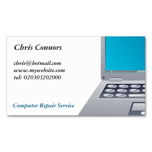 Laptop computer business card business cards card templates and laptop computer business card flashek Gallery